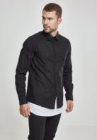 Camasi in carouri barbati negru-negru Urban Classics