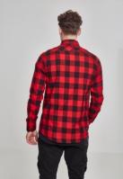 Camasi in carouri barbati negru-rosu Urban Classics