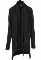Cardigan dama asimetric urban negru Urban Classics