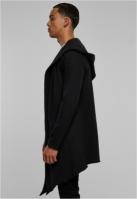 Cardigan lung cu gluga negru Urban Classics