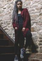 Cardigan dama tricotat rosu burgundy Urban Classics