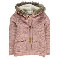Cardigan SoulCal Fur Trim cu captuseala tricot pentru fetite