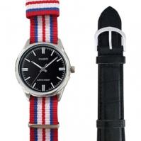 Casio Special Mod Mtp-v005l-1_dw6 (nato Stripes + negru din piele)