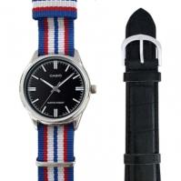 Casio Special Mod Mtp-v005l-1_dw7 (nato Stripes + negru din piele)