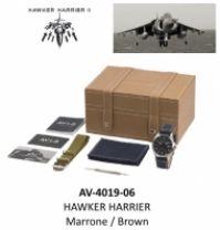 Ceas Avi-8 Mod Hawker Harrier - Marrone maro - Special Set : 2 Cinturini 2 Straps
