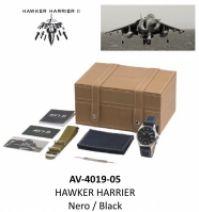 Ceas Avi-8 Mod Hawker Harrier - Neroblack- Special Set : 2 Cinturini 2 Straps