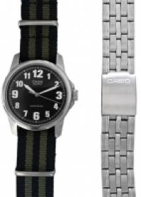Ceas Casio Special Mod Mtp-1260pd-1 Set 2 Straps (nato cu dungi Army Greenblack + S