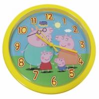 Ceas de perete Peppa Pig Orologio Da Parete Giallo galben Diam 25cm