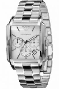 Ceas Emporio Armani Mod clasic Chrono Gent Ss, Silver Dial, Date, 37mm, Wr 5atm