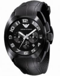 Ceas Emporio Armani Mod clasic Chrono, Ip Ss Case, Date, negru Dial, negru Rubber Strap