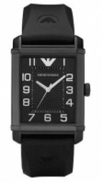 Ceas Emporio Armani Mod clasic negru Unisex Ss Ip negru, negru cauciuc Strap