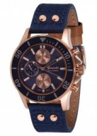Ceas Guardo Mod S1043-3 Steel Case albastru Strap Epson Mechanism 555mm Wr 3atm