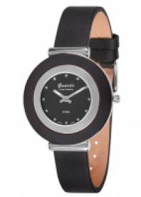 Ceas Guardo Mod S9280-1model: S9280-1 Stainless Steelnegru Ceramic Case  negru din piele Strap  38 Mm