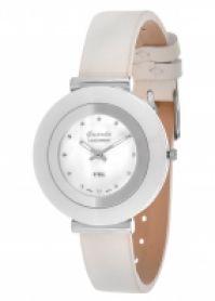 Ceas Guardo Mod S9280-2model: S9280-2 Stainless Steelalb Ceramic Case Mop Dial  alb din piele Strap 38 Mm
