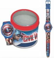 Ceas Marvel Kid Mod Capitain America - Tin Box