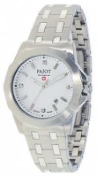Ceas Pajot Skywalk Collection Mod Ss 38mm Date Quartz Movement Crystals alb Dial pentru Femei