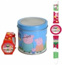 Ceas Peppa Pig Fucsia - Tin Box
