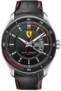 Scuderia Ferrari Mod Gran Premio Gent din piele Strap 45mm 5 Atm