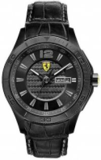 Scuderia Ferrari Mod Scuderia Xx Gent Mineral Crystal din piele Strap Quartz Wr 50mt 44mm