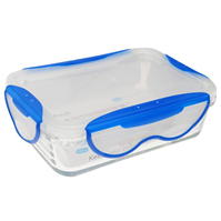 Clip Fresh 580ml Glass Tub