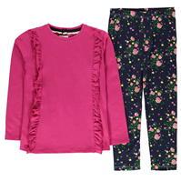Set Colanti Bluza cu maneca lunga Crafted and pentru fete pentru Bebelusi