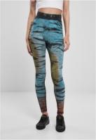 Mergi la Colanti bumbac Tie Dye cu talie inalta pentru Femei negru Urban Classics