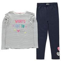 Set Colanti Crafted Jersey Top and pentru fete pentru Bebelusi