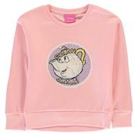 Bluza de trening Heatons Disney Princess Sequin pentru fete pentru Bebelusi