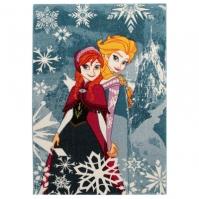Covor Camera Copii Premium Disney Frozen Anna Si Elsa 133x190 Cm Antiderapant