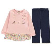 Set bebelusi Crafted Essentials 2 Piece Sweat pentru fete