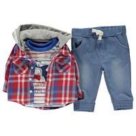 Crafted Mini 3 Piece Shirt Set pentru baieti pentru Bebelusi