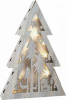 Decor Din Lemn Luminos Craciun Tree 37 Cm