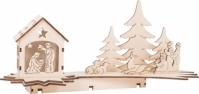 Decor Luminos Din Lemn Craciun Nativity 31 Cm