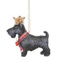 Mergi la Decoratiuni brad Gisela Graham Scottie Dog cu Crown