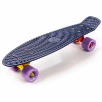 Placa skateboard METEOR plastic bleumarin / violet portocaliu si galben 23719