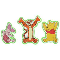 Disney Winnie the Pooh Foam Wall Decorations
