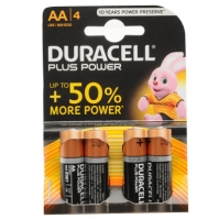 Duracell Plus AA batteries 4 .