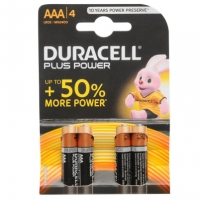 Duracell Plus Power AAA Batteries 4 .