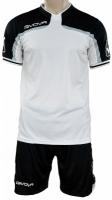 Echipament fotbal complet fotbal Givova America negru And alb