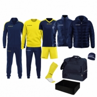 Echipament complet fotbal BOX REVOLUTION Givova albastru galben