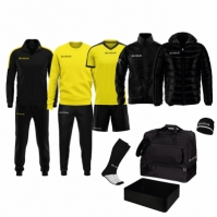 Echipament complet fotbal BOX REVOLUTION Givova negru galben