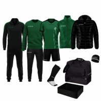 Echipament complet fotbal BOX REVOLUTION Givova negru verde