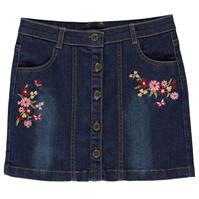 Fusta Crafted Essentials Embroidered Denim pentru fete pentru copii