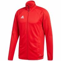 Bluza de trening adidas TIRO 17 antrenament JKT rosu BQ2710 copii teamwear adidas teamwear