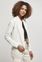 Geaca colegiu Inset pentru Femei gri-deschis Urban Classics alb