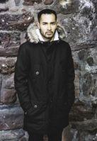 Geaca iarna cu blanita negru Urban Classics
