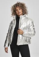 Geaca matlasata Metalic pentru Femei argintiu Urban Classics