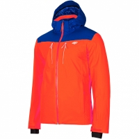 Geaca Ski barbati 4F portocaliu-albastru H4Z19 KUMN009 33S