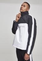 Geaca urban cu gluga si buzunare doua culori alb-negru Urban Classics