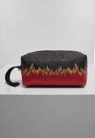 Geanta cosmetice Flame Print negru-rosu Mister Tee